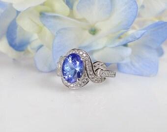 Tanzanite Sterling Silver Ring, Tanzanite Ring, Promise Ring, Statement Ring, Natural Tanzanite, Tanzanite Jewelry, Engagement Ring