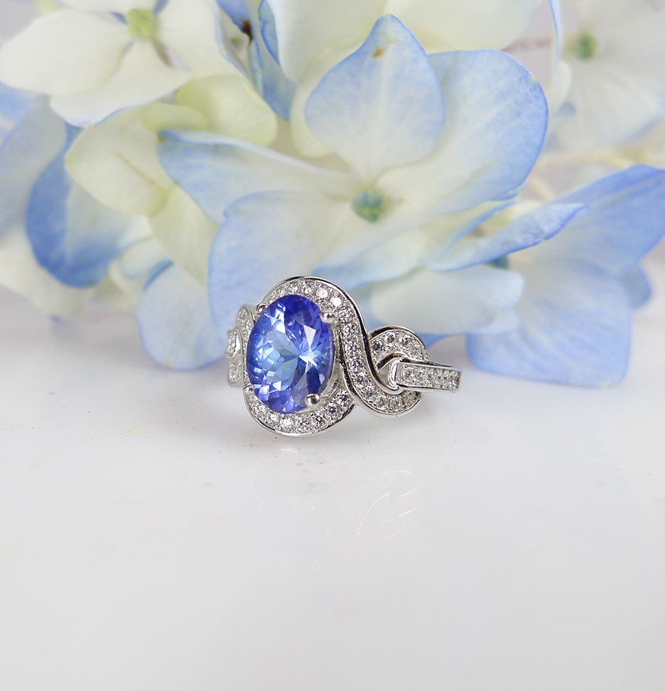 Tanzanite Buying Tanzanite: Tanzanite Sterling Silver Ring Tanzanite Ring Promise Ring