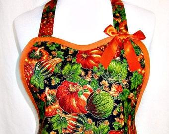 Apron AUTUMN Harvest, HOLIDAY Hostess, Pretty Party Kitchen Gift