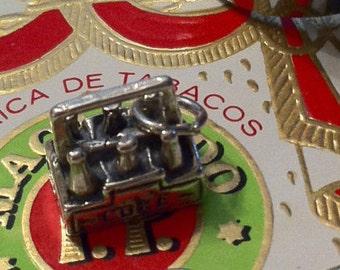 Six Pack Silver Charm or Pendant, Soda Bottles Charm