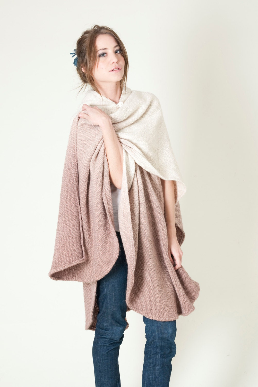 Women's cape Poncho wrap Hooded Cape Coat Hoodie Ruana