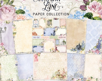Blue Fern New Release Courtship Lane Collection 12 x 12 Scrapbook Paper Pad Full Collection Pack, 2-Each Of 10 Designs, 20 Double Sided