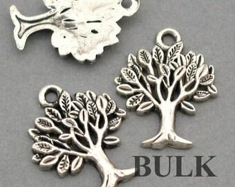 Tree Charms BULK order Antique Silver 30pcs pendant beads 17X22mm CM0019S