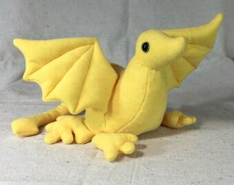 Baby Dragon Bean Bag Yellow