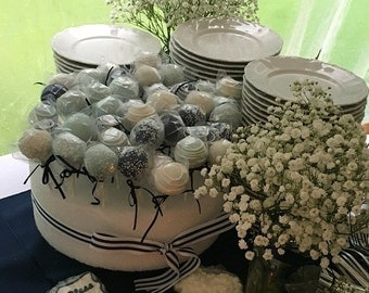Baptism: Baptism Cake Pops Made to Order with High Quality Ingredients, Dessert Table, 3 dozen Cake Pops