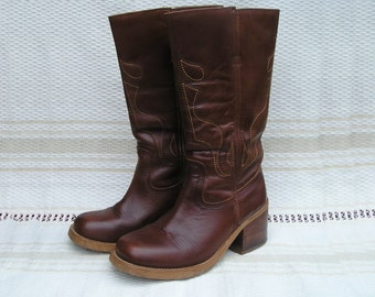 Vintage leather campus boots, size 36 (EUR), 6 (US)