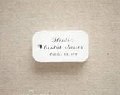 Romantic Bridal Shower Favor Tags - Bridal Shower Miniature Gift Tags - Wedding Favor Tags - Thank you tags - Set of 40 (Item code: J554)