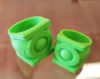 Green Lantern 3D Printed Ring Costume Fan Art