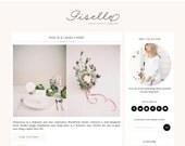 """Wordpress Theme Responsive Blog Design """"Giselle"""" - Feminine and lovely"""