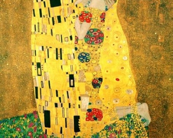 Art Nouveau Art Print Home Decor of The KISS by Gustav Klimt