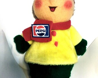 25% OFF Vintage PEPSI Advertising Stuffed Doll Plush Animal Faire #7399