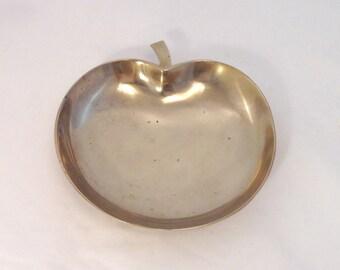 Vintage Big Apple Bowl/Dish, Brass, Korea