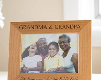 personalized grandparents picture frame gift from grandchildren personalized grandparents gift unique grandparents gifts for grandparent