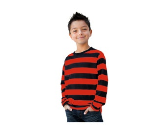 Red and black striped longsleeve