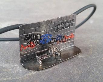 graffiti / urban / miniature / miniatura / silver / plata /colgante / pendant