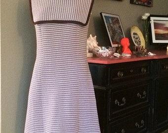 70s Striped Dress Vintage Size 14 please check measurements