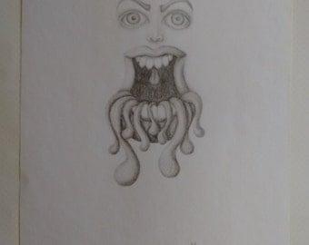 ORIGINAL ART - Dripping - Alternative - Big Mouth