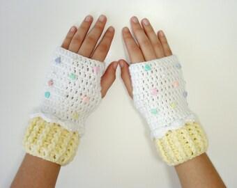 Fingerless Gloves-Lolita Accessories-Fairy Kei Accessories-Mitten -Gloves-Wrist Warmers-Winter-Christmas Gift-Birthday Gift-Amaloli-Hime