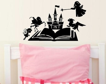 Fairy tale book come to life wall decal fantasy nursery decal decal for kids WD067