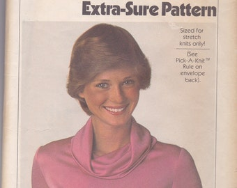 Cowl Neck Shirt Pattern Simplicity 8111 Size 8