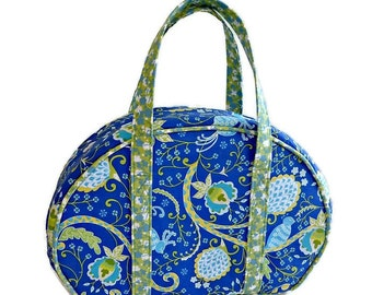 Royal Blue Overnight Bag, Travel Bag, Carry-on Luggage,  Day Tripper, Cosmetic Case,  Make-up Bag, Carry-all, Vanity Case, Small Suitcase
