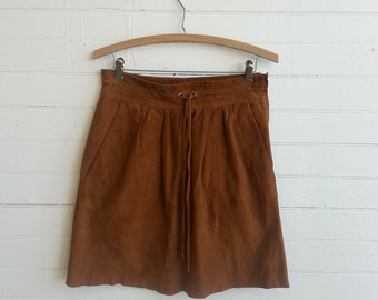 Vintage mini suede skirt  size small