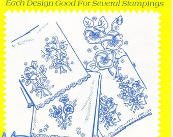 Vintage Aunt Martha's, Hot Iron, Transfers, Colonial Patterns, 3254, 14 Floral Motifs, Sewing, Embroidery, winterparkcollect, Fabric Art
