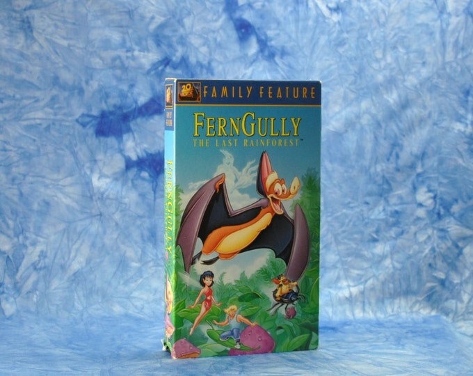 Vintage VHS Tape FernGully The Last Rainforest Family Feature 1992 - Robin Williams - Sheena Easton - Raffi - Tone-Loc - Animated - Feature