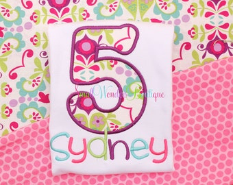 Girls Birthday Shirt - Flower Birthday Shirt - Any Age Birthday Shirt - Flower Birthday - Spring Birthday - Girls Birthday Shirt - Flower