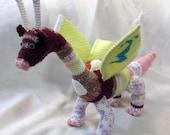 Crochet Amigurumi Butterfly Scrap Dragon