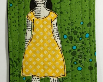 Art Quilt - Her Heart is Full