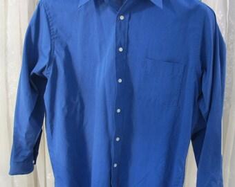Vintage 80's men's Arrow royal blue dress shirt size 16 32/33