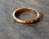 Vintage 10K Gold Filled Wedding Band Uncas Deadstock Bridal Unisex Size 12 // Vintage Designer Jewelry
