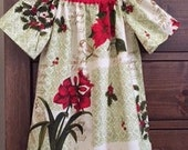 SALE  Peasant Dress  -  Christmas Dress - Holiday Dress  - Toddler Girls -  4T  - Red Dress   - Ready to ship - By Emma Jane Company