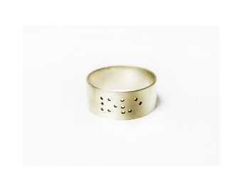 aurum - LOVE in Braille 14k gold ring by Anilani