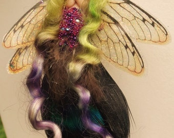 sweet fairy fairie feather tiny  ooak