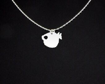 Pufferfish Necklace - Pufferfish Jewelry - Pufferfish Gift