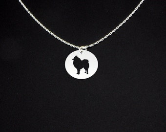 Keeshond Necklace - Keeshond Jewelry - Keeshond Gift