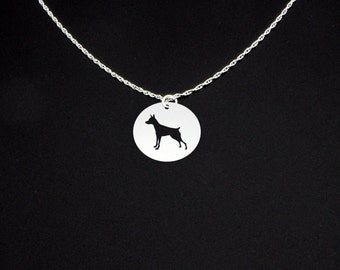 Miniature Pinscher Necklace - Miniature Pinscher Jewelry - Miniature Pinscher Gift