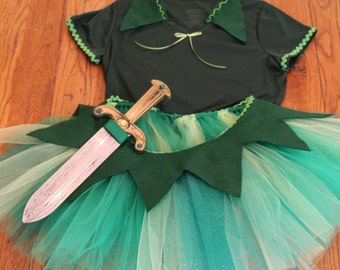 Peter Pan Tutu Costume Set