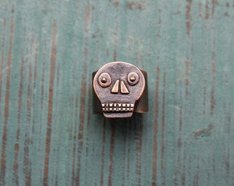 Bronze Calavera ring #2