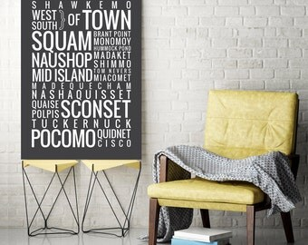 Nantucket - Cape Cod, Massachusetts - Typography Print