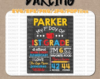 Instant Download: DO IT YOURSELF First Day of School Sign Cutting File svg/eps/png/jpg/pdf Vinyl Cutting File