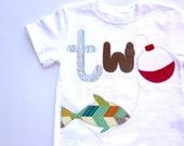 Fishing Birthday Shirt, Two Year Old Birthday Shirt