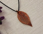 SALE Leaf Necklace, Evergreen , Real Leaf Necklace, Copper Leaf , Christmas Gift, Holiday, Gift Set, Teacher Gift, Copper Necklace, SALE316