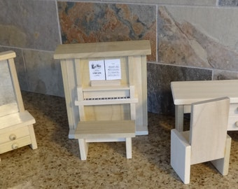 Den etc. - Wooden Dollhouse Furniture Hand Crafted