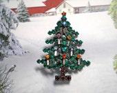 1970s  Christmas Tree Pin signed MADE  AUSTRIA   Item: 15554
