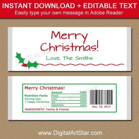 chocolate bar label template - editable christmas candy bar wrappers printable christmas