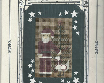 "Clearance-""Santa's Portrait"" Counted Cross Stitch by Blue Whale Designs"