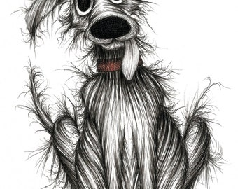 Ugly the dog Print download Horrid smelly stinky mucky pet pooch mutt hound with slobbery tongue Nasty doggie who doesn't have any friends